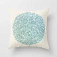 Detailed Circle Throw Pillow