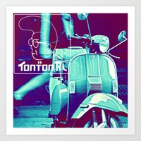 scooter white tonton AL Art Print
