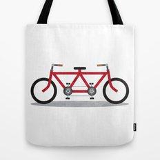 Broken Teamwork Tandem Bicycle Tote Bag