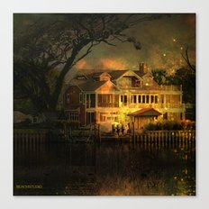Spooky Boathouse Canvas Print