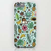 iPhone Cases featuring Tropical Fiesta by Tangerine-Tane