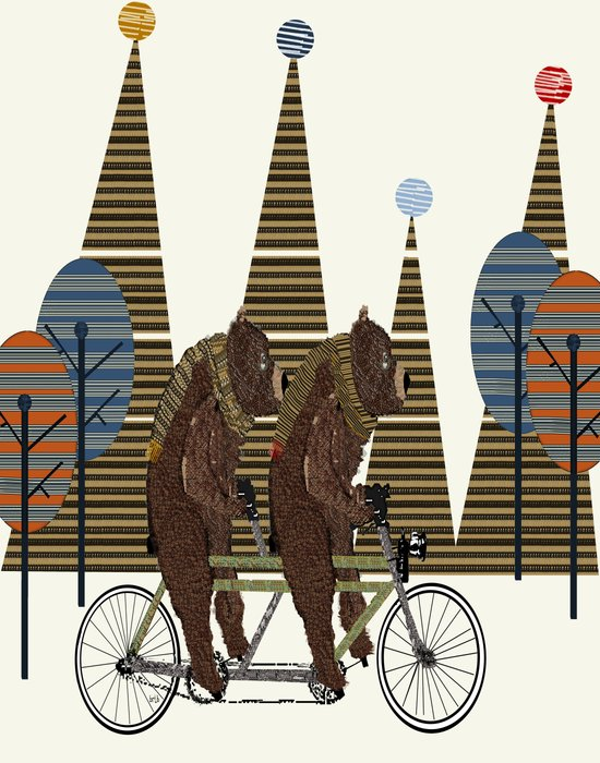 grizzly days lets tandem Art Print