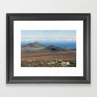 North Barrule And Maugho… Framed Art Print