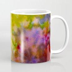 Burgundy and Olive Abstract Mug