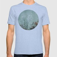First Snowfall  Mens Fitted Tee Athletic Blue SMALL
