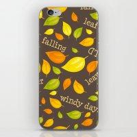 Fall Leaves Pattern iPhone & iPod Skin