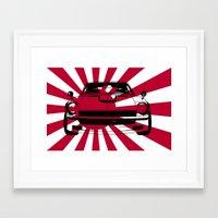 240Z - Rising Sun Framed Art Print