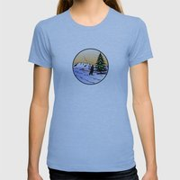 fly fishing Womens Fitted Tee Athletic Blue SMALL