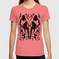 Rorshach Vacation Womens Fitted Tee Pomegranate SMALL