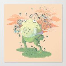 Frog Fungi Canvas Print