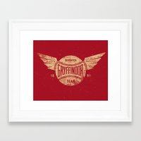 Vintage Gryffindor Quidditch Team Framed Art Print