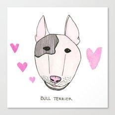 Bull Terrior Canvas Print