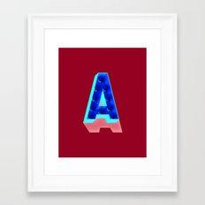 A in lights Framed Art Print