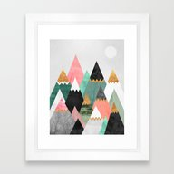 Pretty Mountains Framed Art Print
