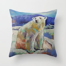 Polar Bear Sun Throw Pillow