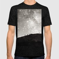 Starry Night  Mens Fitted Tee Tri-Black SMALL