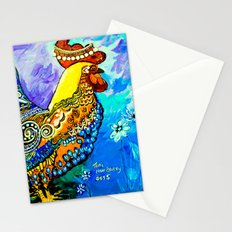 Crazy Chicken Stationery Cards