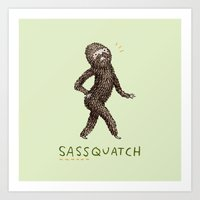 Sassquatch Art Print