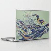 ocean Laptop & iPad Skins featuring OCEAN AND LOVE by Huebucket