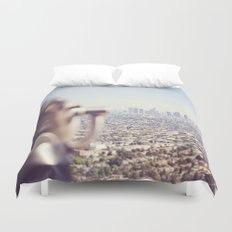 View from the Top, Los Angeles Duvet Cover