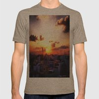 Beautiful Concrete Mens Fitted Tee Tri-Coffee SMALL