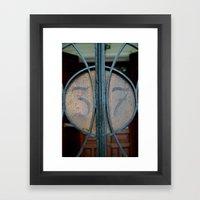 Number 37 Framed Art Print