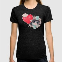 Steal Heart (light) Womens Fitted Tee Tri-Black SMALL