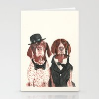 german short hair pointers - F.I.P. @ifitwags (The pointer brothers) Stationery Cards