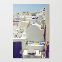 Santorini Lounge Canvas Print