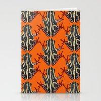 Congo Tree Frog Orange Stationery Cards