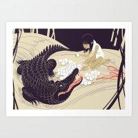 Coccodrillo Art Print