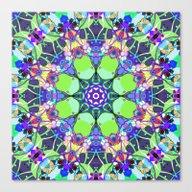 Vibrant Concentric Abstr… Canvas Print