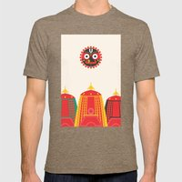 Rathyatra Mens Fitted Tee Tri-Coffee SMALL