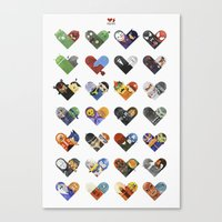 Versus Hearts Series 1 Canvas Print