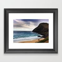 Lighthouse @ Oahu Framed Art Print