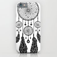 iPhone Cases featuring Dreamcatcher (Black & White) by 83 Drops
