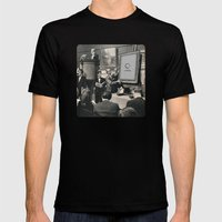 Silent Auction Mens Fitted Tee Black SMALL