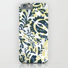 Blue Flowers Pattern iPhone 6 Slim Case