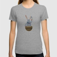 Fake Food Rabbit Womens Fitted Tee Athletic Grey SMALL