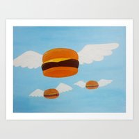 Bob's Flying Burgers Art Print