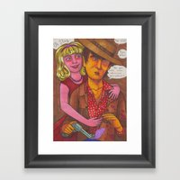 Stagger Meets Nelly Framed Art Print