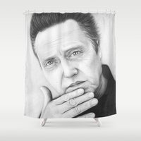 Christopher Walken Portrait Shower Curtain