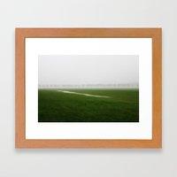 Foggy Landscape - JUSTART © Framed Art Print