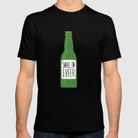 Smile, I'm Your Beer Mens Fitted Tee Black SMALL