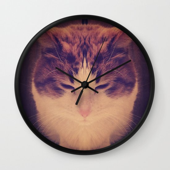 Symmetrical Feline Wall Clock
