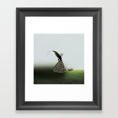 On the floor Framed Art Print