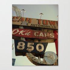 Ok'd Cars Sign  Canvas Print