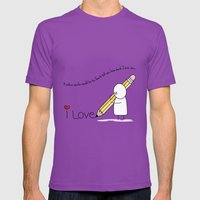 I Love You...  Mens Fitted Tee Ultraviolet SMALL