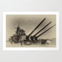 USS Iowa Art Print