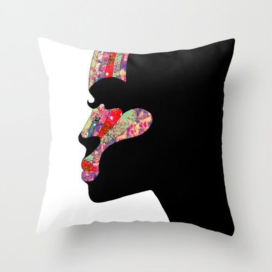 EL PERFIL Throw Pillow